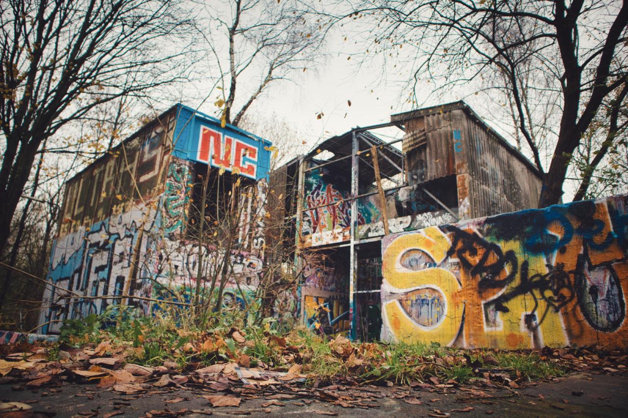 Die alte Müllverbrennungsanlage in Kiel - Außenansicht